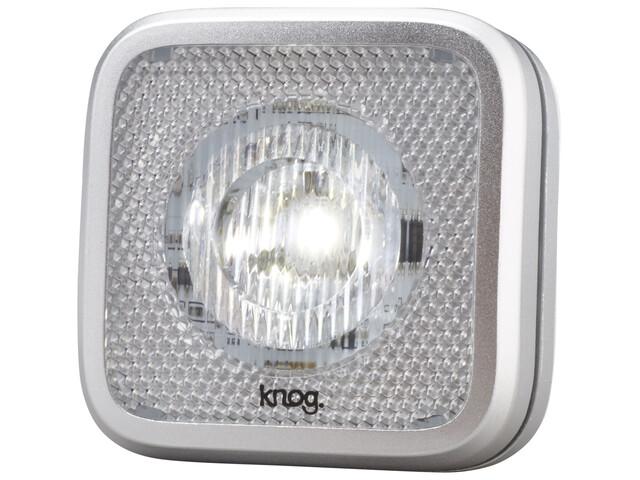 Knog Blinder MOB - Luces para bicicleta - 1 LED blanco, estándar gris/Plateado